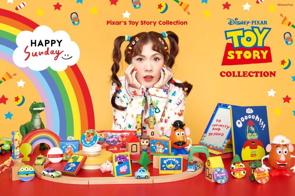 """ครั้งแรก บิวตี้ บล็อกเกอร์ """"ไอซ พาดี้"""" ปั้นแบรนด์เครื่องสำอางสัญชาติไทย """"HAPPY SUNDAY"""" ผนึกแบรนด์ดังระดับโลก """"ดิสนีย์"""" ดึงคาแร็กเตอร์ Toy Story ติดอาวุธทำตลาด"""