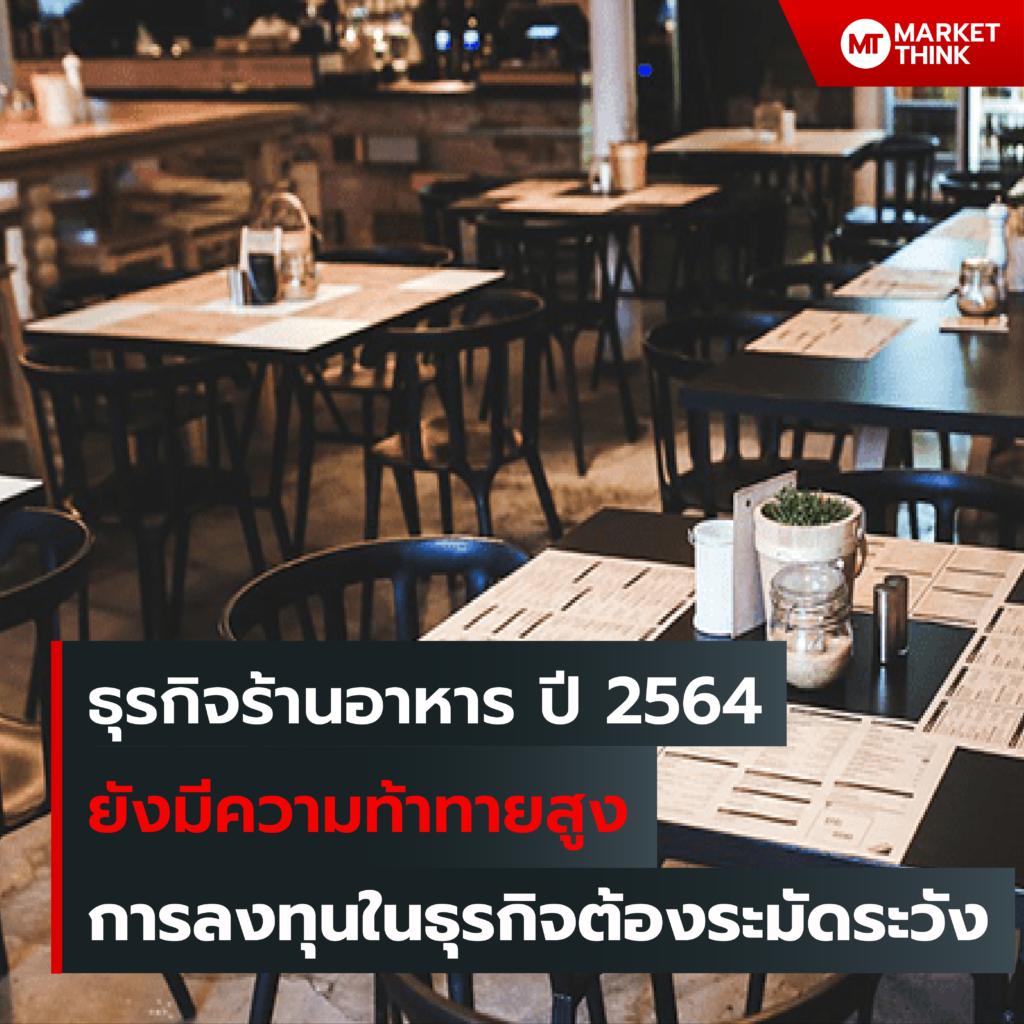 ธุรกิจร้านอาหาร ปี 2564 ยังมีความท้าทายสูง การลงทุนในธุรกิจต้องระมัดระวัง