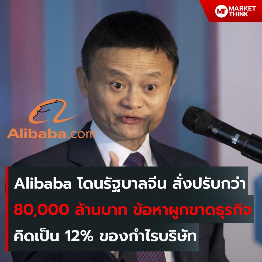 Alibaba โดนรัฐบาลจีน สั่งปรับกว่า 80,000 ล้านบาท ข้อหาผูกขาดธุรกิจ คิดเป็น 12% ของกำไรบริษัท